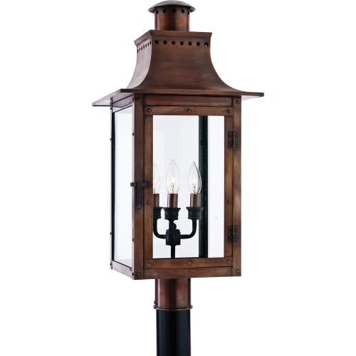 Quoizel CM9012AC Chalmers 26-Inch Jumbo Post Lantern, Aged Copper Finish