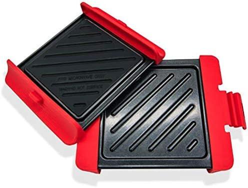 KENANLAN 2 Stück Antihaft-Backbleche Schnellheiz-Grillschalen für Mikrowelle