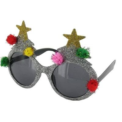 2d1ba8f9709f Novelty Christmas Tree Sunglasses Silver  Amazon.co.uk  Kitchen   Home