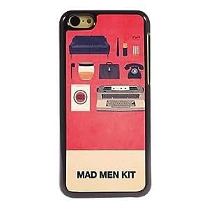 WQQ Mad Man Kit Pattern Aluminum Hard Case for iPhone 5C , Blue