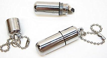 Survival Waterproof Peanut Capsule Lighter Cigarette Cigar Refillable Oil Lighter Torch Key Chain