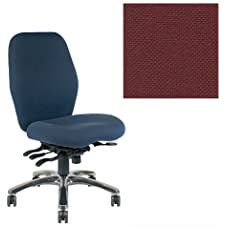Office Master Zesta Collections ZA94 Ergonomic Executive Chair - No Armrests - Grade 1 Fabric - Basic Burgundy 1013 PLUS Free Ergonomics eBook