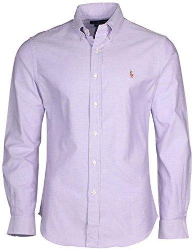 Polo Ralph Lauren Mens Stretch Oxford Slim Fit Sport Shirt  Purple S