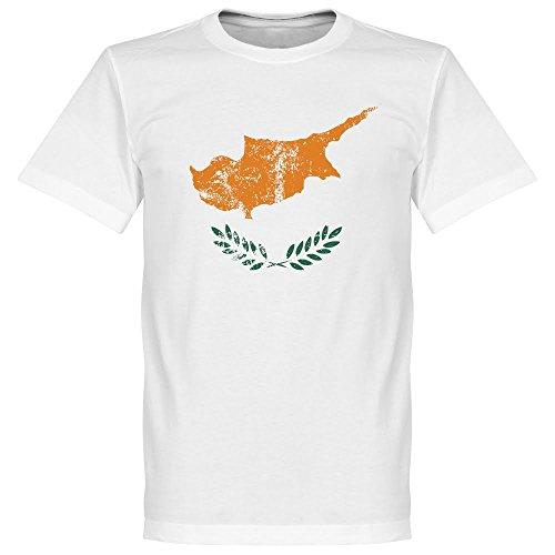 Cipro Bandiera Maglietta, colore: bianco
