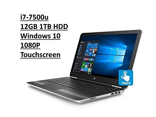 HP 15.6' Pavilion 15T TouchSmart Laptop: Intel Core i7-7500U | 1TB HDD | 12GB DDR4 | FHD (1920x1080) TouchScreen | DVD-RW | Backlit Keyboard | Silver | Windows 10 (Certified Refurbished)