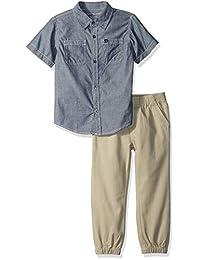 Calvin Klein Conjunto de 2 Piezas de Camisa y pantalón con Mangas Cortas para niños