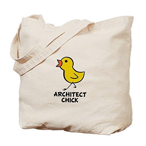 CafePress–Arquitecto pollito Tote Bag–Natural gamuza de bolsa de lona bolsa, bolsa de la compra