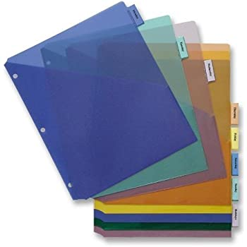 business source 32372 insert index dividers wpocket 8 12x11 8 tab multi