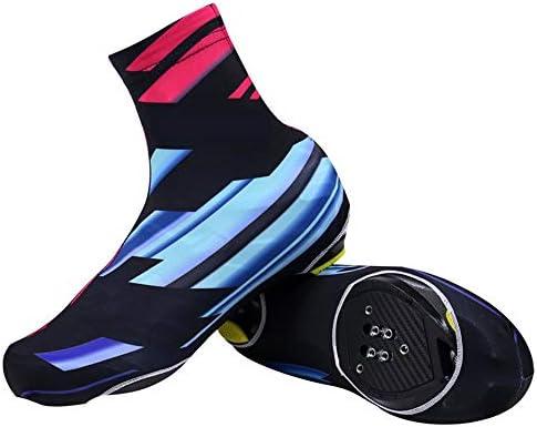 自転車靴カバー 防水・防塵屋外の靴カバー乗馬靴カバーマウンテンバイク防風乗馬用品 防水レインブーツ (Color : Blue red, Size : XL)