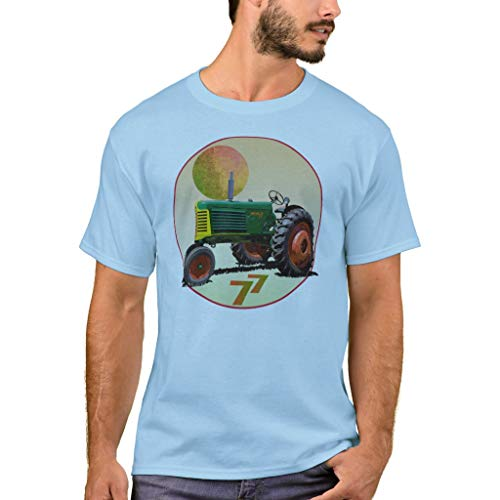 Zazzle Model 77 Row Crop T-Shirt Light Blue Adult M Men's Basic T-Shirt