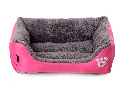 (Spring Fever Soft Pet Bed Water Bite Resistant Function Dog Cats Warm Beds Room Orange M A Pink M (19.716.15.5 inch))