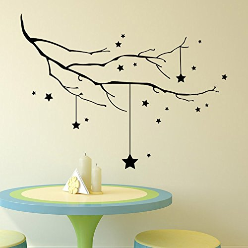 Home Decoration Wall Stickers Decorative stickers _ series stars living room bedroom window wall stickers removable decorative stickers 5681cm Wall Sticker Decals Home Wall DIY Decors Self-adhesive.