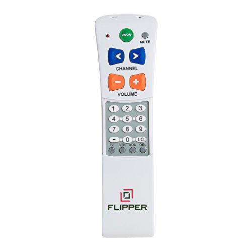 Flipper-Big-Button-Universal-Remote-for-2-Devices