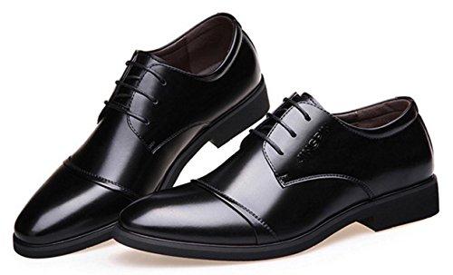 Vestir Transpirables Mlsopx Cuero 41 Negocios Zapatos Hombre Para De Black YXBBwqHn4