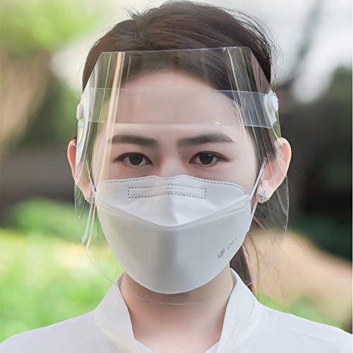 DUTUI Transparent Full Face Mask, Protective Face Screen, Anti-Fog and Oil Splash, Face Mask Medical Hood, Two Packs