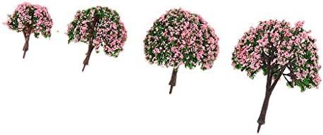 4pcs 4サイズ 模型用 樹木 建築鉄道電車模型  木 4cm-10cm