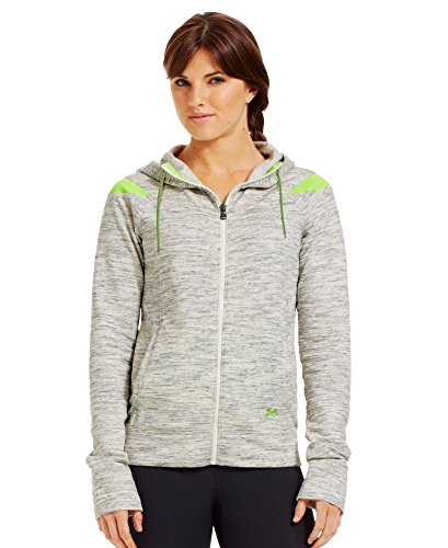 (Under Armour Women's Charged Cotton Storm Marble Full Zip Hoodie X-Large TUSK)