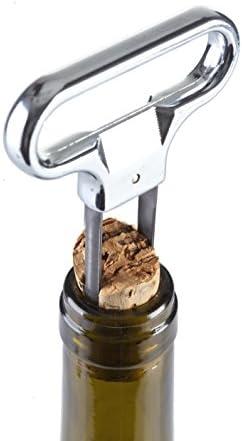 Vacu Vin Tirador para corchos, Acero Inoxidable, marrón, 10.5x16x1.4 cm