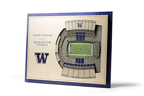 (NCAA Washington Huskies 5-Layer Stadiumviews 3D Wall Art)