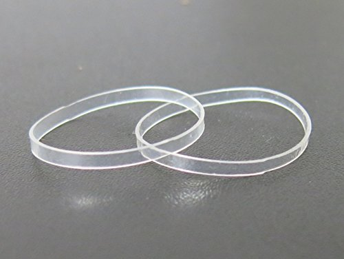 Hair Elastics - STRONG - REUSEABLE - clear Premium Polybands Pack of 70 for Ponytail by ElasticU (Clear Rubber Bands)