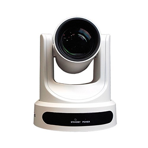 PTZOptics 2MP Full HD Indoor PTZ Camera, 12x Optical Zoom, 1920x1080 at 60fps, USB 3.0, HDMI, IP Streaming, CVBS, 72.5 degree FOV, White by PTZOptics