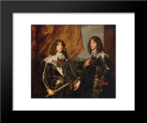 Portrait of the Princes Palatine Charles Louis I and his Brother Robert 20x24 Framed Art Print by Anthony van Dyck