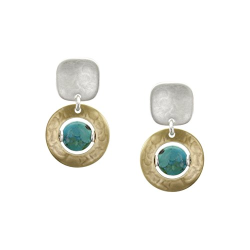 Marjorie Baer Square with Cutout Disc and Turquois…