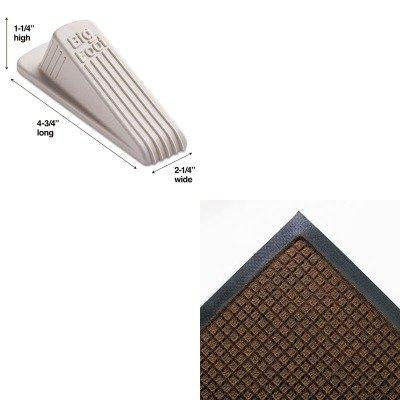 KITCWNSSR046DBMAS00900 - Value Kit - Crown Super-Soaker Wiper Mat w/Gripper Bottom (CWNSSR046DB) and Master Mfg 00900 Big Foot Doorstop, Beige - Crown Super Soaker Wiper Mat