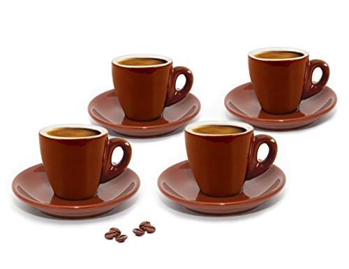 - Cuisinox CUP-466BR Brown Espresso Cups,Set of 4