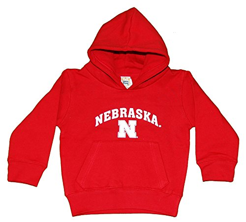 raska Cornhuskers Hooded Pullover, Youth Small, Red ()
