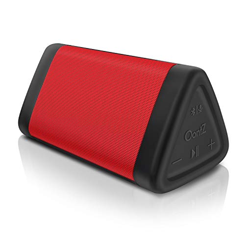 OontZ Angle 3 (3rd Gen) - Bluetooth Portable Speaker, Louder volume, Crystal Clear Stereo Sound, Rich Bass, 100ft Wireless Range, Microphone, IPX5, Bluetooth Speakers by Cambridge Sound Works (Red)