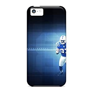 BYBUY Iphone 5c Hybrid Tpu Case Cover Silicon Bumper Indianapolis Colts