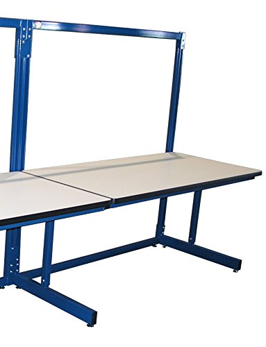 (Pro-Line B7230SAPL Basics Model Single Sided Add-On Workbench, Plastic Laminate, Circuit Blue)