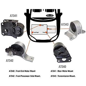 Mount for Auto. Set 4pcs Fits 2004-06 Nissan Maxima 3.5L Engine Motor /& Trans