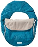 JJ Cole - Car Seat Cover, Weather Resistant Blanket-Style Canopy Designed to Protect from the Cold and Winter Weather, Teal Fractal, Birth and Up