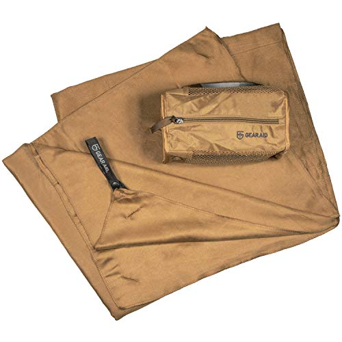 McNett Tactical Ultra-Compact Microfiber Towel, Coyote, Extra Large