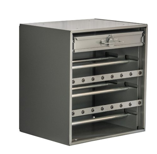 Durham 297-95 Cold Rolled Steel Wire and Terminal Storage Cabinet, 11-7/8'' Length x 15-3/16'' Width x 16-7/16'' Height, Gray Powder Coated Finish by Durham