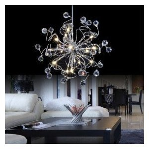 LOCO® Modern Crystal chandelier with 15 Lights, Mini Style Pendant Lights Ceiling Light Fixture Lamp