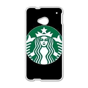 HTC One M7 Cell Phone Case White Starbucks 4 003 HIV6755169573400
