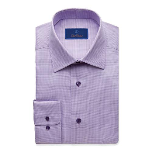 2656da40 ... best in clothing and accessories. Comments. David Donahue Men's Regular  Fit Micro Houndstooth Dress Shirt, Purple, 17.5