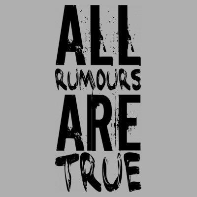 Sudadera con capucha de mujer All Rumors Are True by Shirtcity Gris granulado