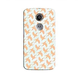 Cover It Up - Pink Bird Print Moto X2 Hard Case