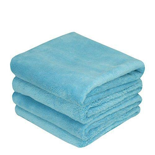 - THE RAG COMPANY (4-Pack) 16 in. x 24 in. MINX Professional Edgeless 70/30 Blend Super Plush Microfiber Polishing, Buffing, Waterless, Rinseless, Car Wash Detailing Towels (16x24, Blue)
