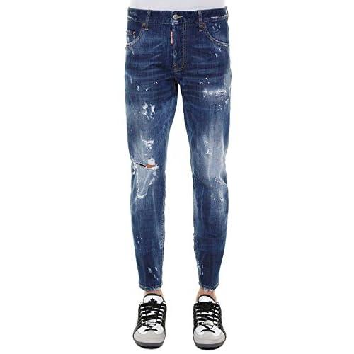 33c751da3a Dsquared2 Hombre S71LB0265S30342470 Azul Algodon Jeans delicate ...