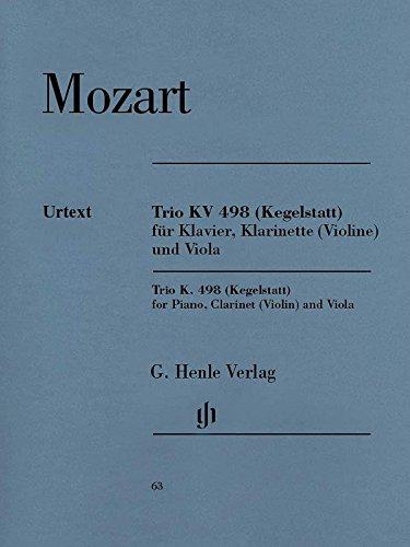 HENLE VERLAG MOZART W.A. - PIANO TRIO E FLAT MAJOR KV 498 (KEGELSTATT-TRIO) Classical sheets Chamber music