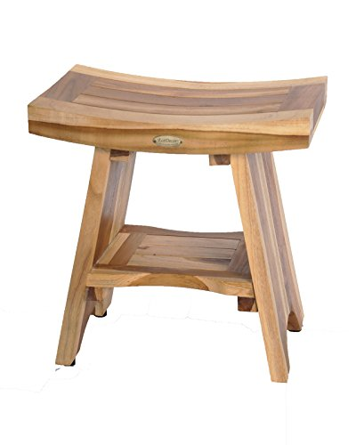 Serenity Natural - EcoDecors Serenity Shower Stool, Natural