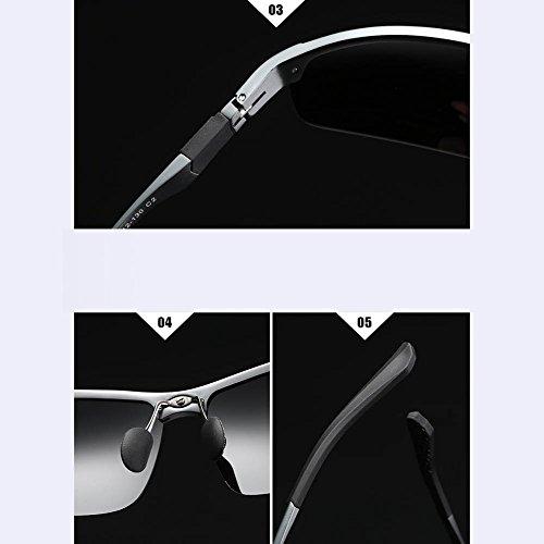 Los Hombres Blackframeblackgraylens De De GoldFrameGrayLens Gafas Hipster Estilo Gafas De Espejo Sol RPFU De Gafas Conducción Polarizadas Sol Conductor TnXxwzt
