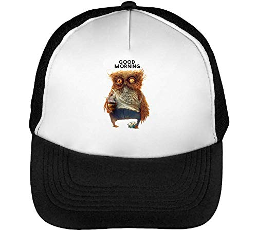 Hombre Owl Blanco Beisbol Snapback Negro Good Gorras Morning qTxwgBBt