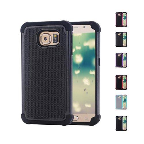 E8Q premium resistente a prueba de golpes protectora dura Cubierta de la caja para Samsung Galaxy S6 gris