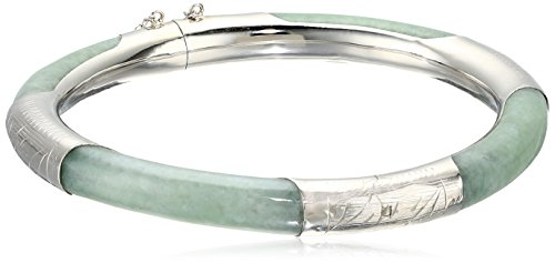 Green Sterling Silver Bangle Bracelet